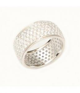 Crystals Sterling Silver Ring