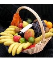 Fruit Basket with Red Wine