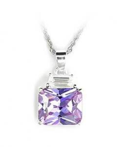 Sterling Silver Pendant with Light Amethyst Stone